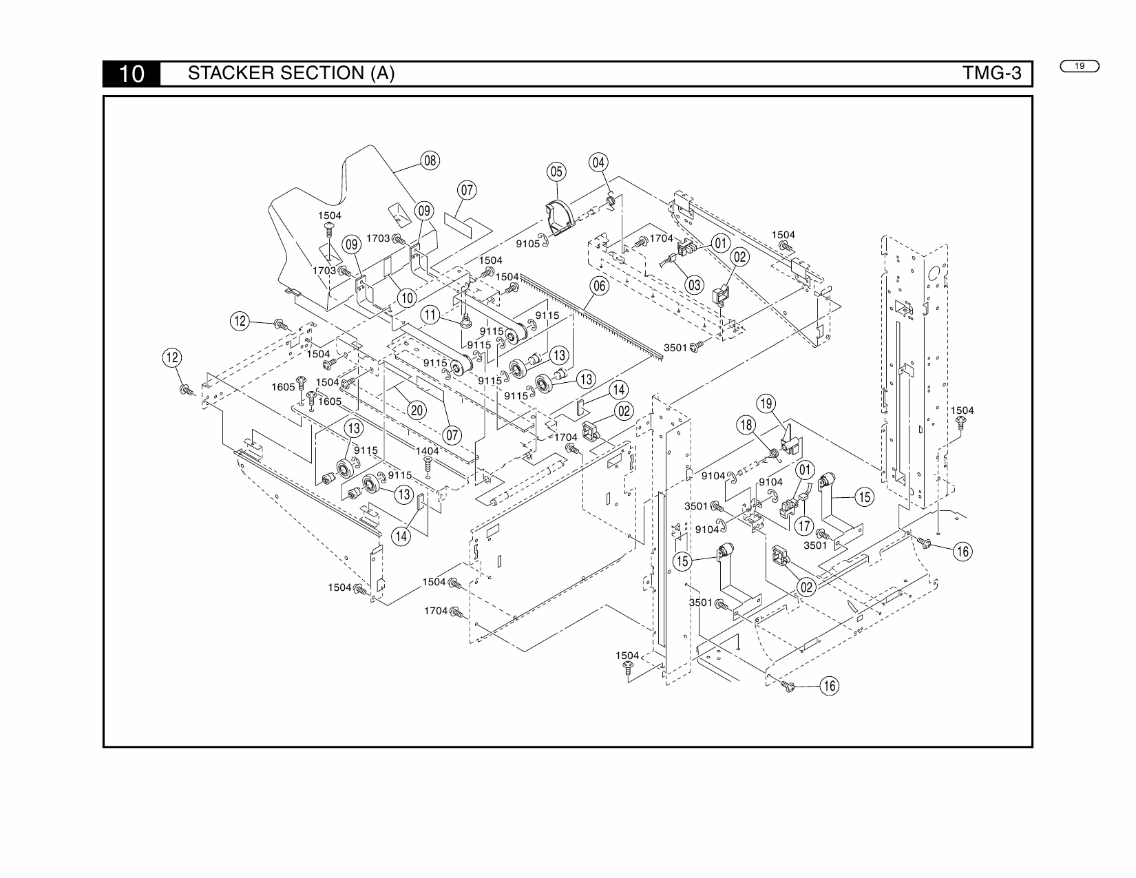 Konica-Minolta Options TMG-3 Parts Manual